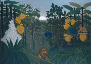 Art Prints of The Repast of the Lion by Henri Rousseau