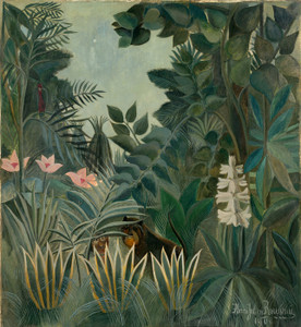 Art Prints of The Equatorial Jungle by Henri Rousseau