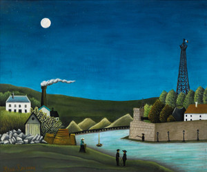 Art Prints of The Seine at Suresnes by Henri Rousseau