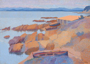 Art Prints of Coast Near Antibes by Henri-Edmond Cross