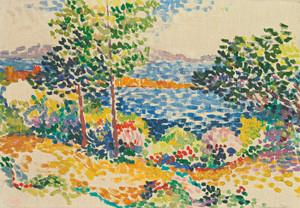 Art Prints of Mediterranean Seaside by Henri-Edmond Cross