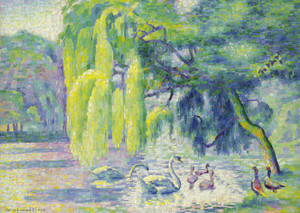 Art Prints of Swan Family by Henri-Edmond Cross