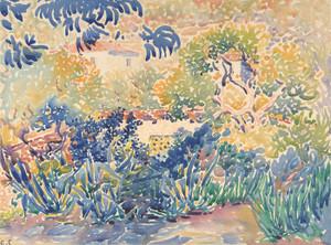 Art Prints of The Artist's Garden at Saint Clair by Henri-Edmond Cross