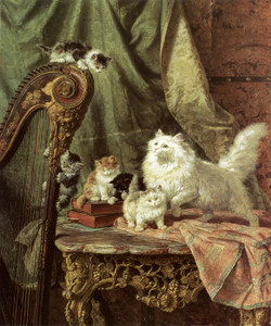 Art Prints of A Musical Interlude by Henriette Ronner Knip