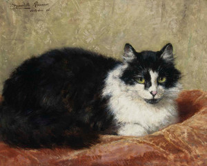 Art Prints of Cat on a Pillow by Henriette Ronner Knip