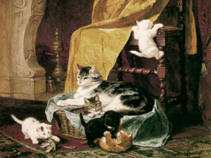 Art Prints of Family Life by Henriette Ronner Knip