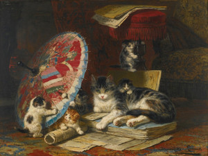 Art Prints of Kittens at Play, No. 1 by Henriette Ronner Knip