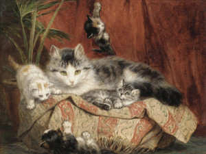 Art Prints of Playtime by Henriette Ronner Knip