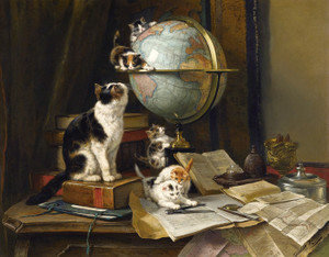 Art Prints of The Globetrotters by Henriette Ronner Knip