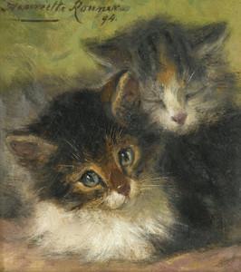 Art Prints of Two Kittens II by Henriette Ronner Knip