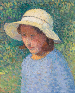 Art Prints of Girl in a Hat by Henri-Jean Guillaume Martin