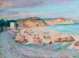 Art Prints of Morgat Beach by Henri-Jean Guillaume Martin