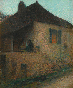 Art Prints of Summer Sunset with Grandmother by Henri-Jean Guillaume Martin