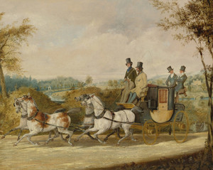 Art Prints of A Coach Passing an English Country Estate by Henry Thomas Alken