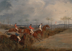 Art Prints of Scene from a Steeplechase, Another Hedge by Henry Thomas Alken