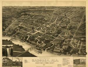 Art Prints of Gadsden, Alabama, 1887 by Henry Wellge