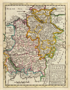 Art Prints of The Northwest Part of Germany, 1736 (5580014) by Herman Moll