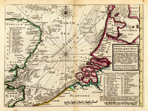 Art Prints of Coast of England, Holland and Flanders (5580010) by Moll and Collins