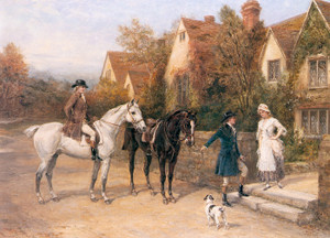 Art Prints of A Hunting Morning by Heywood Hardy