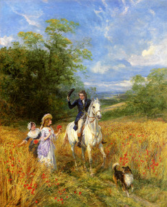 Art Prints of A Passing Greeting by Heywood Hardy