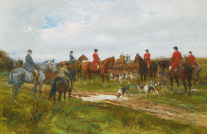 Art Prints of Gathering for the Hunt by Heywood Hardy