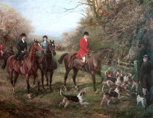 Art Prints of The Hunting Party by Heywood Hardy