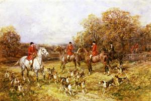 Art Prints of The Fox Hunt by Heywood Hardy