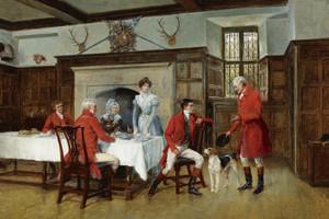 Art Prints of The Huntsman's Story by Heywood Hardy