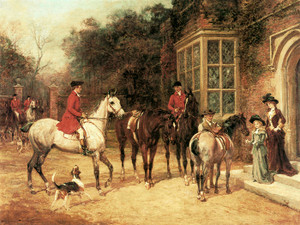Art Prints of The Meet by Heywood Hardy