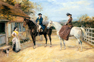 Art Prints of The Morning Visit by Heywood Hardy