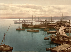 Art Prints of Harbor by Moonlight I, Algiers, Algeria (387063)