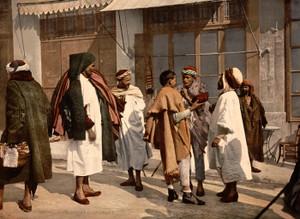 Art Prints of Arabs Disputing, Algiers, Algeria (387098)