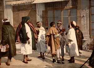 Art Prints of Arabs Disputing, Algiers, Algeria (387098)