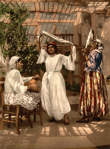 Art Prints of Arab Dancing Girls, Algiers, Algeria (387108)