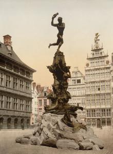 Art Prints of Brabo Monument, Antwerp, Belgium (387136)