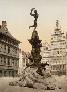 Art Prints of Brabo Monument, Antwerp, Belgium (387136)