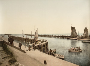 Art Prints of Entrance to the Port, Blankenberghe, Belgium (387149)