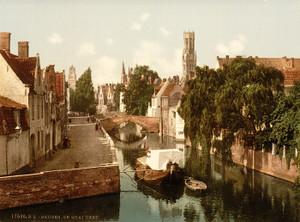 Art Prints of Quai Vert, Bruges, Belgium (387161)