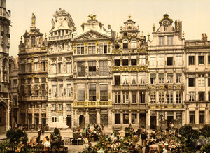 Art Prints of La Grande Place, the Old Houses, Brussels, Belgium (387174)