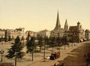 Art Prints of Friday Market, Statue of John, Ghent, Belgium (387202)