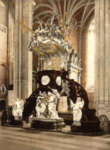Art Prints of St. Bavon Abbey, Pulpit, Ghent, Belgium (387199)