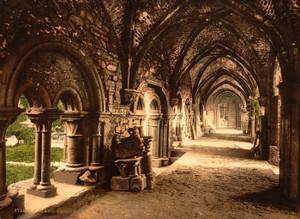 Art Prints of St. Bavon Abbey, the Cloister, Ghent, Belgium (387198)