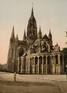 Art Prints of The Cathedral, Bayeux, France (386979)
