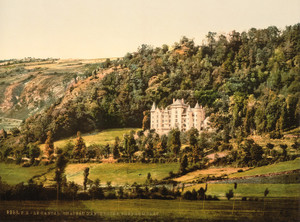Art Prints of Le Cantal Chateau Anteroche, Murat, Auvergne Mountains, France (386984)