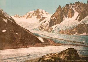 Art Prints of Lake Blanc View of the Garden, Chamonix Valley, France (387030)