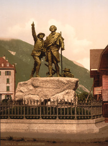 Art Prints of The Saussure Monument of Chamonix, Chamonix Valley, France (387035)