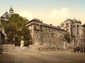 Art Prints of The Chateau and the Monument Maistre, Chambery, France (387040)