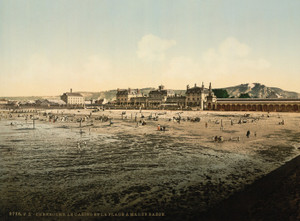 Art Prints of Casino and Beach at Low Tide, Cherbourg, France (387048)