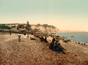 Art Prints of La Plage et le Casino, Dieppe, France (387260)