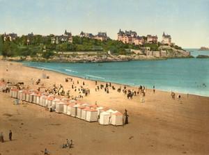 Art Prints of The Beach, Dinard, France (387268)